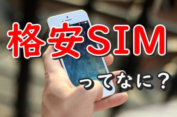 格安SIMってなに?誰でも簡単に理解できる解説書【オススメの格安SIM】