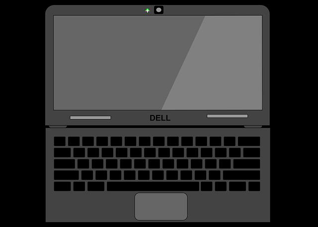 黒いPCのイラスト