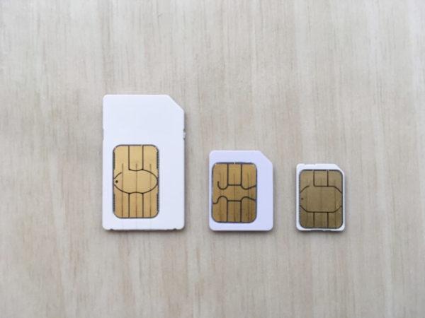 SIMカード3枚