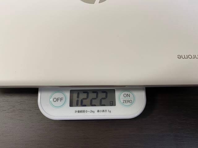 Chromebookの重量