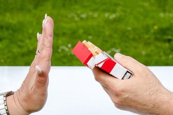 タバコを拒否
